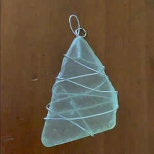 Sea glass stone necklace